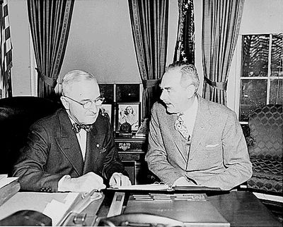 was president truman responsible for the start of the cold war Explore how president truman's desicions shaped the cold war  truman  began his 'get tough' policy in 1946 with strong protests against russian  on  eastern europe and enabled truman to blame them for the cold war.