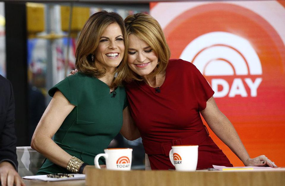 """Natalie Morales and Savannah Guthrie appear on NBC News' """"Today"""" show"""