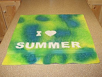 Tie-Dyed Beach Towel Craft
