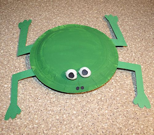 How to Make a Frog Out of Paper Plates
