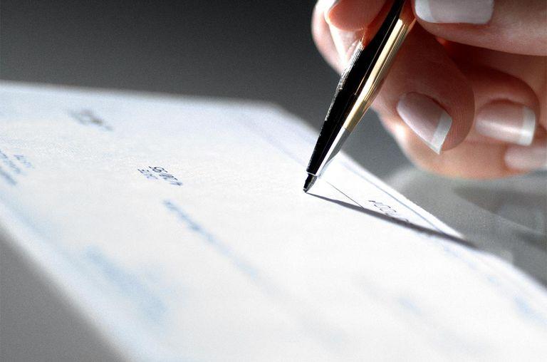 Hand signing check