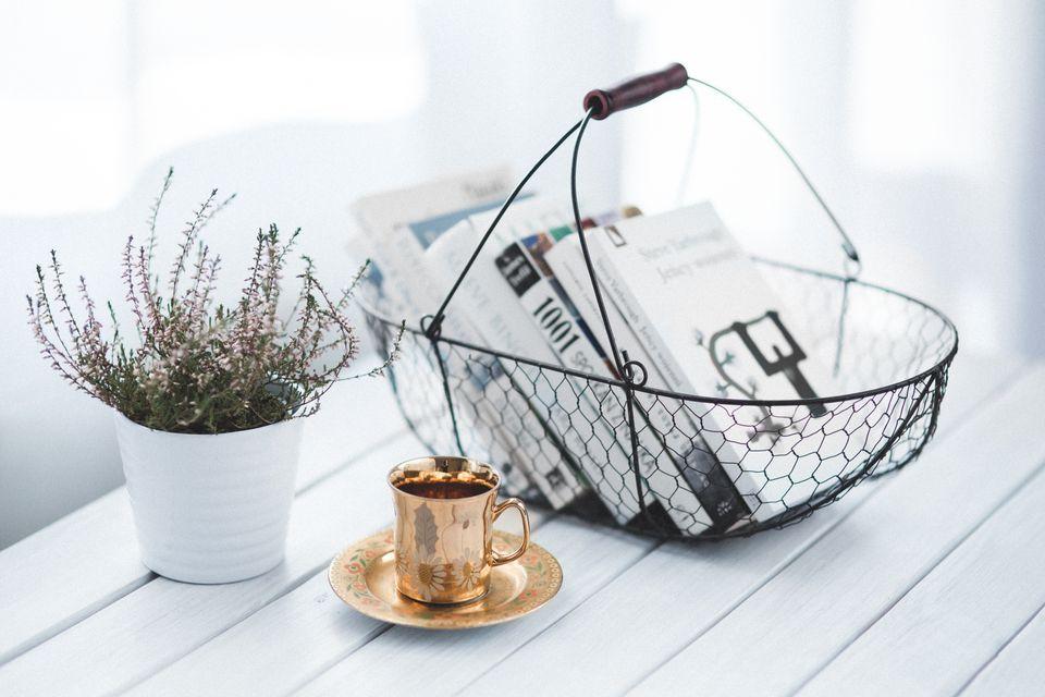 Organized coffee table