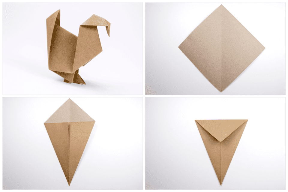 Origami Turkey Tutorial 1