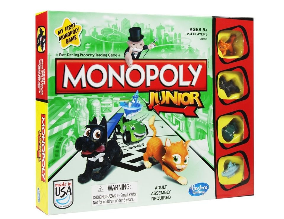 monopoly junior is playable for younger grandchildren