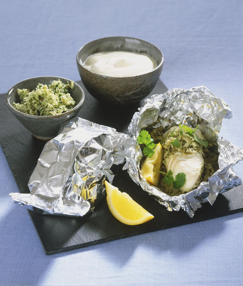 Caribbean Halibut Packets