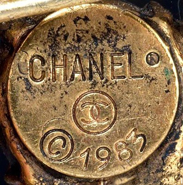 Chanel Round Signature Cartouche from the Early 1980s
