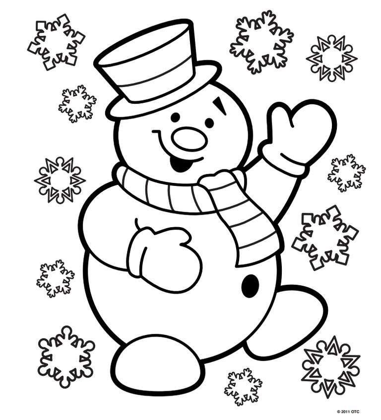 free n fun christmas coloring pages - Christmas Color Pages