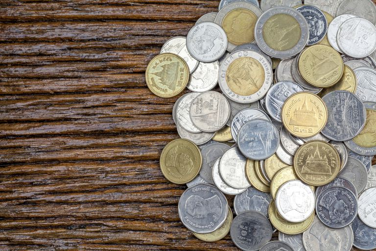Precious metals were used in coins in the past.