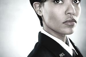 Portrait of an air woman