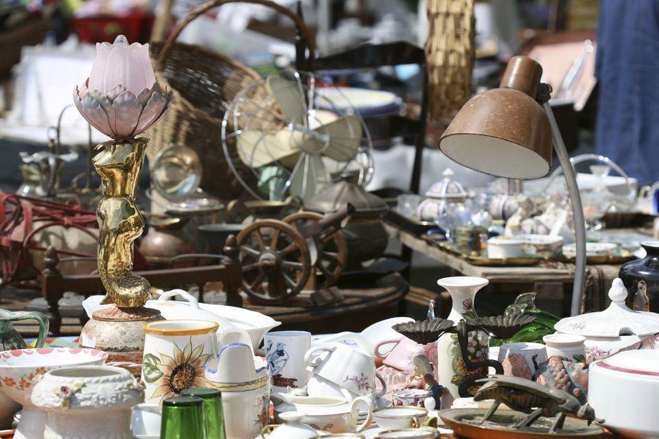 vintage finds at flea market antique fair