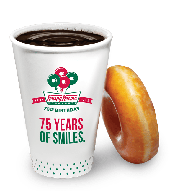 Krispy Kreme Coffee Bliss Celebrates the brands 75th anniversary.