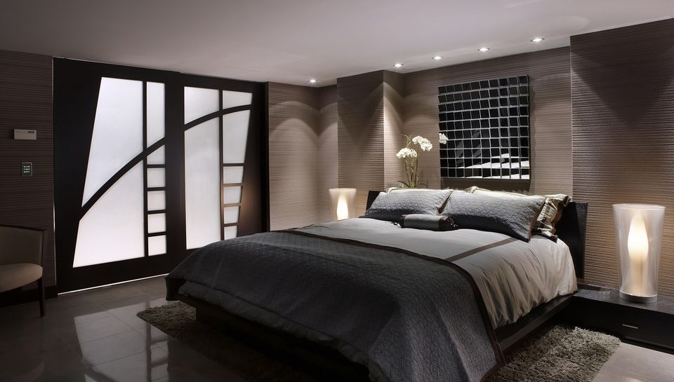 Gorgeous Contemporary Bedroom. Popular Bedroom Decorating Styles