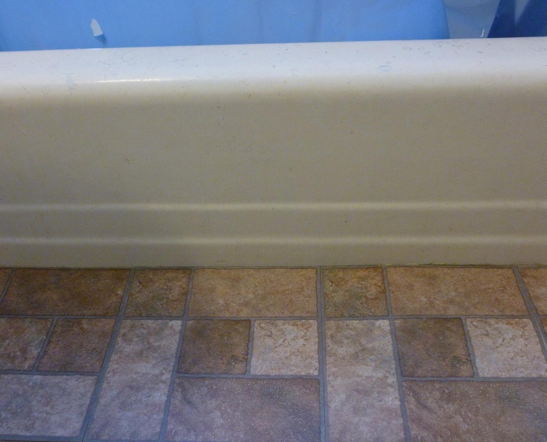 Vinyl Sheet and Tile Bathroom Flooring
