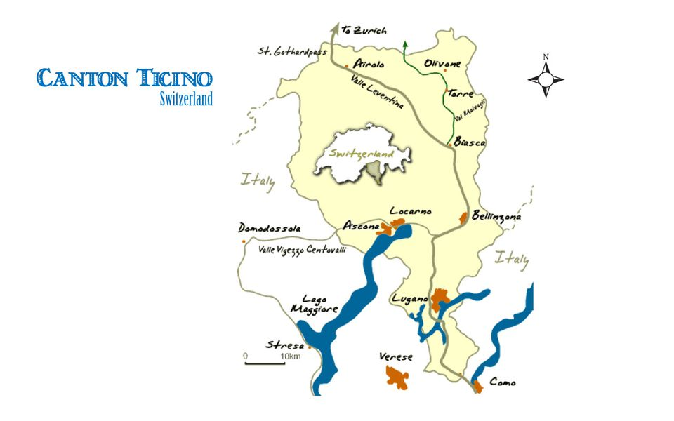 Ticino Map and Guide Swiss Canton