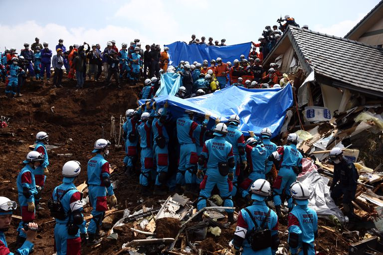 Rescue Operations Continue After Deadly Japan Earthquakes