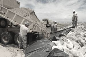 geotextile workers