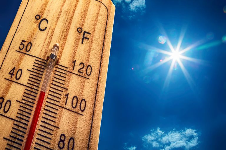 The Celsius scale is a centigrade temperature scale where there are one hundred steps or degrees between the freezing and boiling points of water.