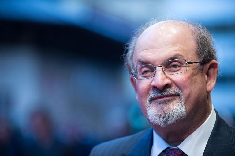 Salman Rushdie attends the premiere of 'Midnight's Children' during the 56th BFI London Film Festival
