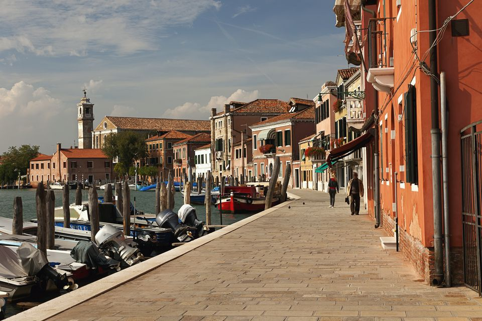 A Street Along The Water; Murano Italy