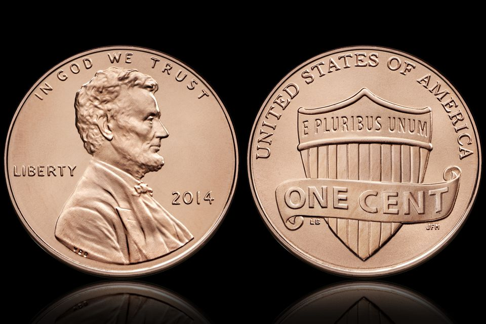 Lincoln One-Cent Coin With Shield Reverse
