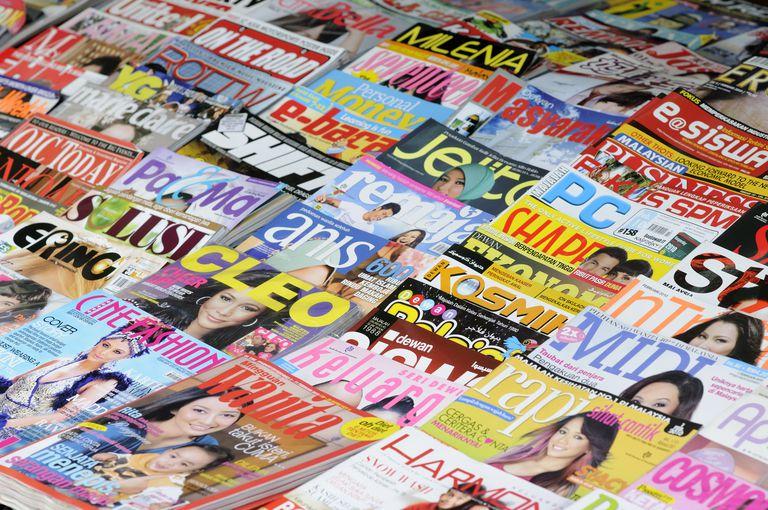 Magazine stand.