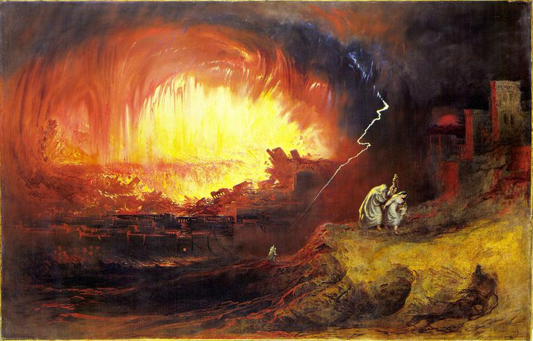 The Destruction of Sodom and Gomorrah, John Martin, 1852.