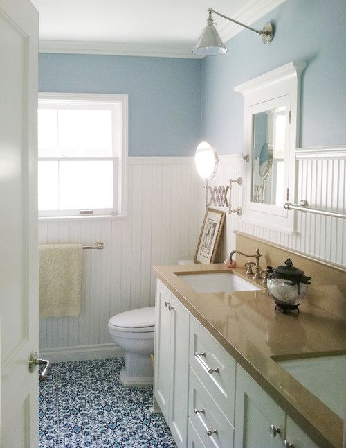 Beadboard bathroom design ideas - Bagno overbeach ...