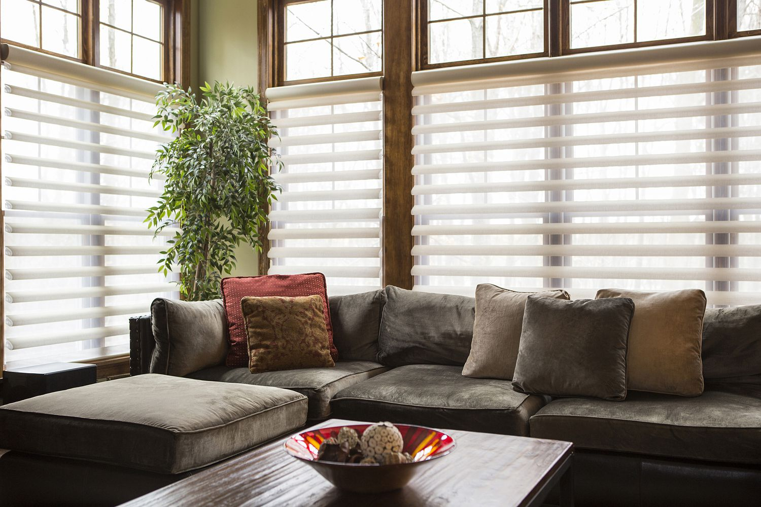 How to clean your living room in 5 minutes - Sofa And Blinds In Living Room