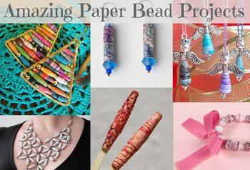 how to make recycled paper beads