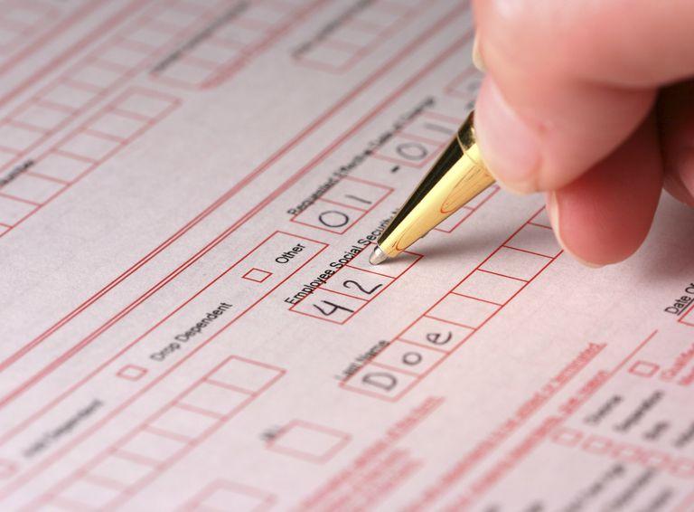 Filling out enrollment form