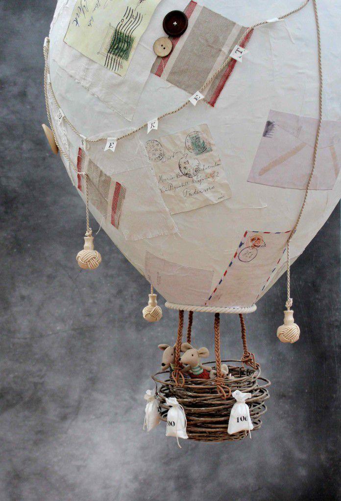 paper mache hot air ballon