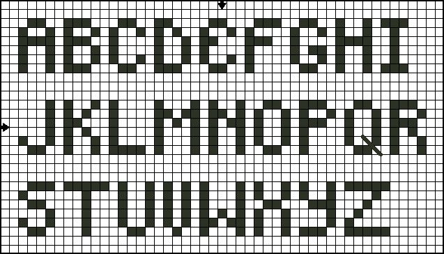 cross stitch letters alphabet patterns for cross stitch and back stitch 47230