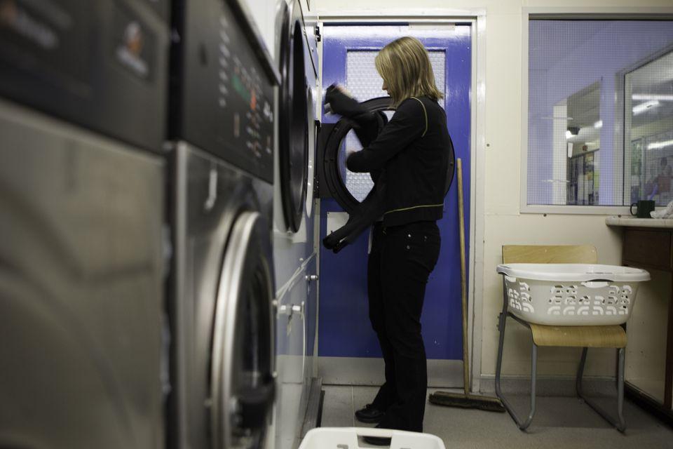 college laundry room