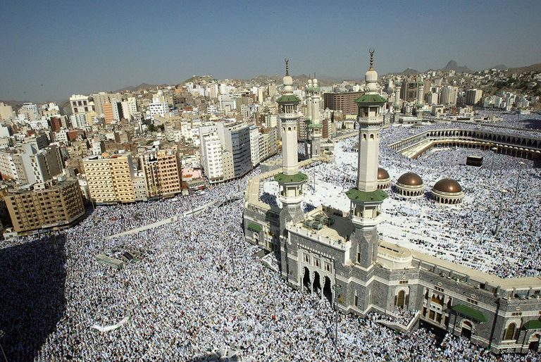 Muslim Pilgrims Attend Friday Prayer In Makkah