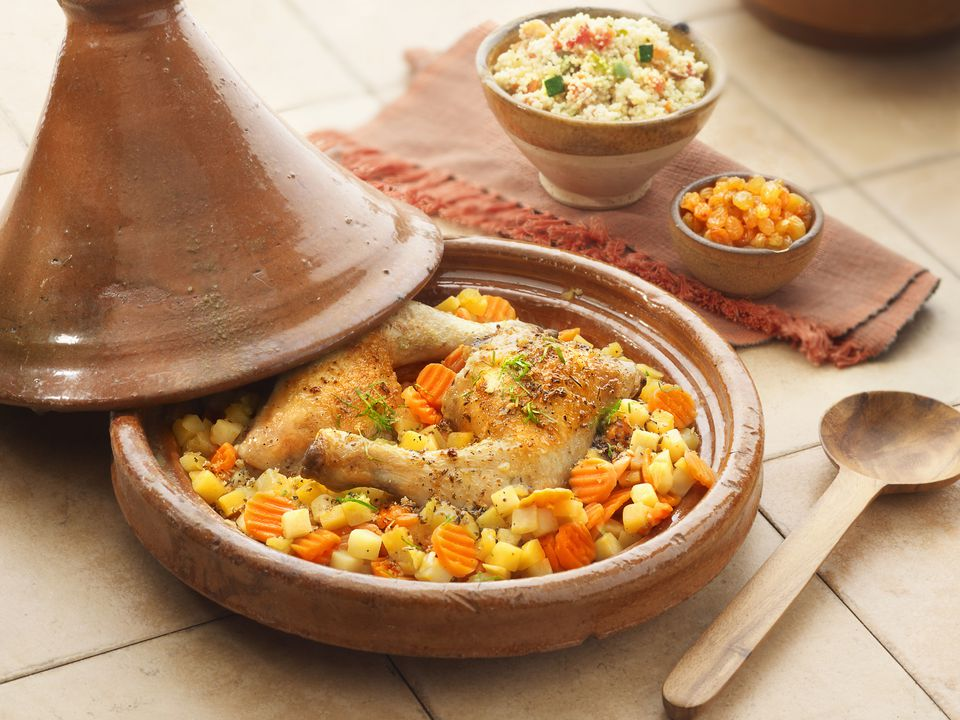 Moroccan Chicken Tagine with potatoes and carrots