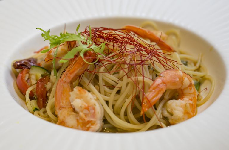 Seafood Scampi White Wine Spaghetti, Pasta