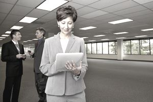 real estate people in empty office space