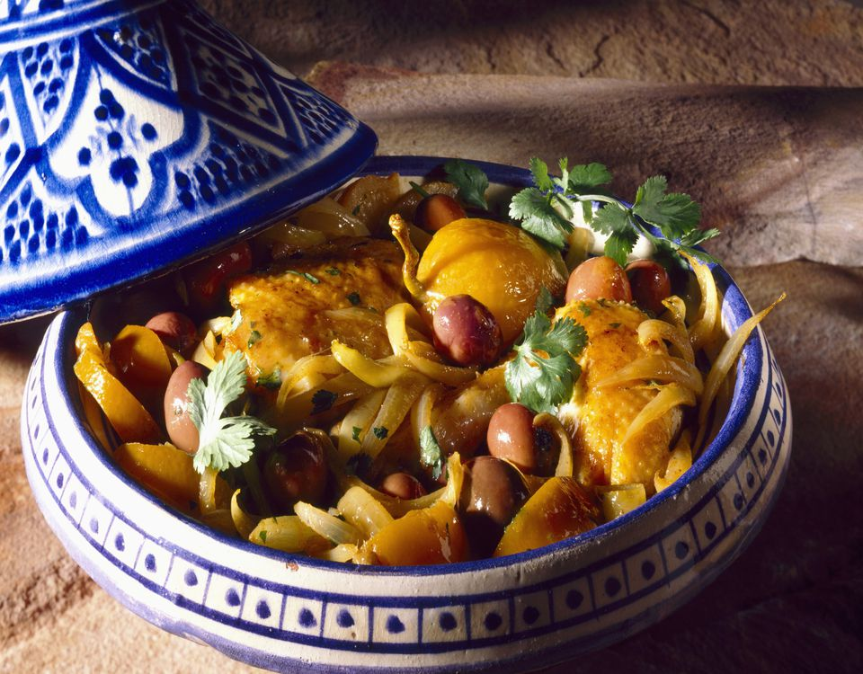 chicken with olives in tagine