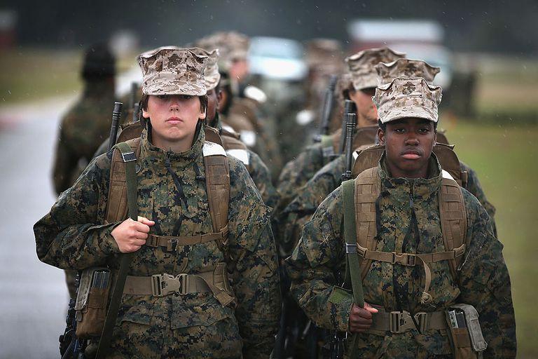 Women in the Marines in uniform