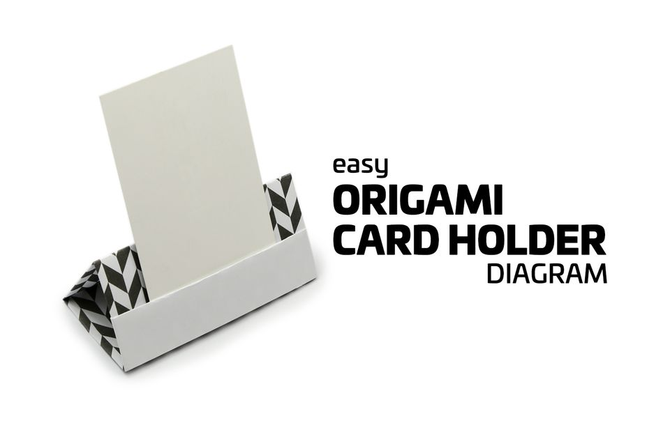 easy origami card holder instructions