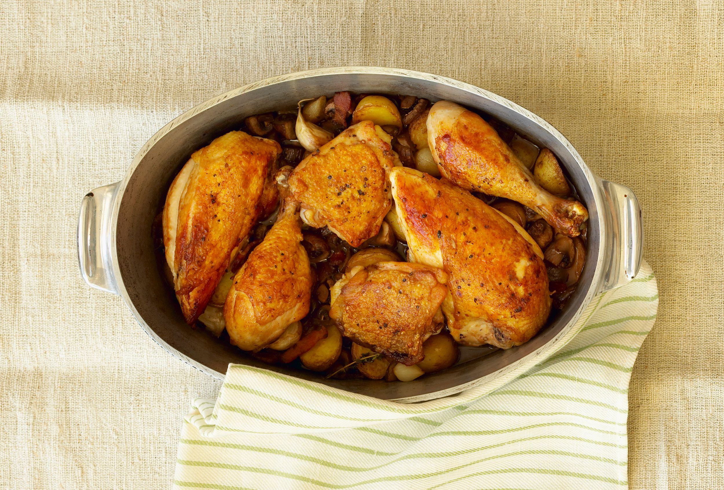 Seasoned Oven Baked Chicken Pieces Recipe