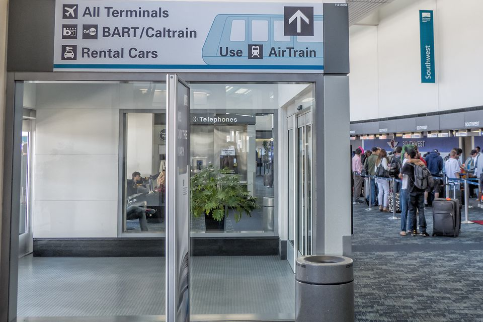 how to get out of airtrain station with eticket