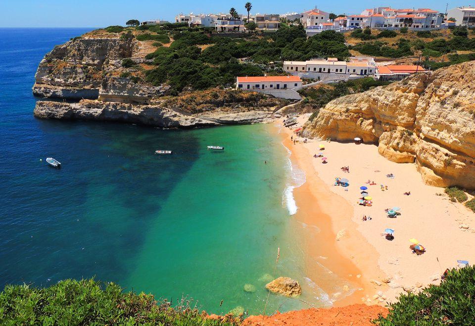 Beautiful Algarve beach in Portugal