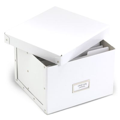 White Greeting Card Organizer from the Container Store