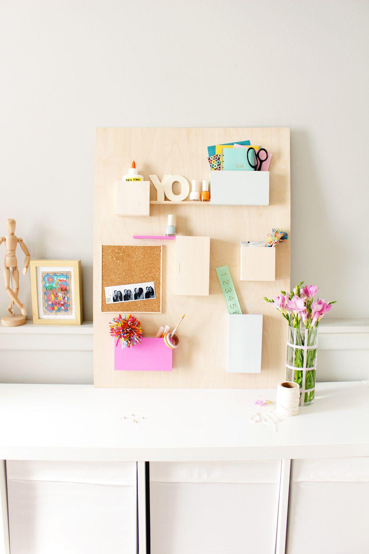 DIY Wood Wall Organiser