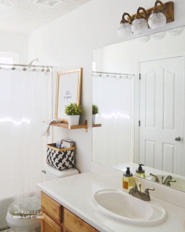 bathroom with storage