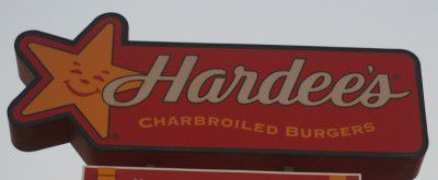 A picture of the Hardee's logo