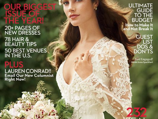 The cover of the March 2017 Brides magazine