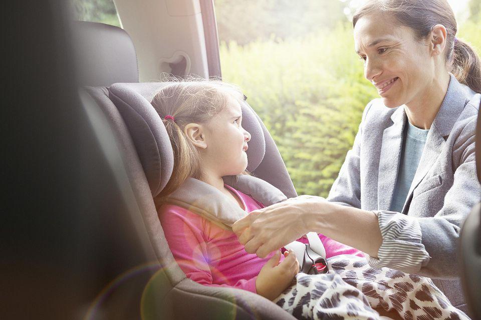 Buckling Toddler In Car Seat