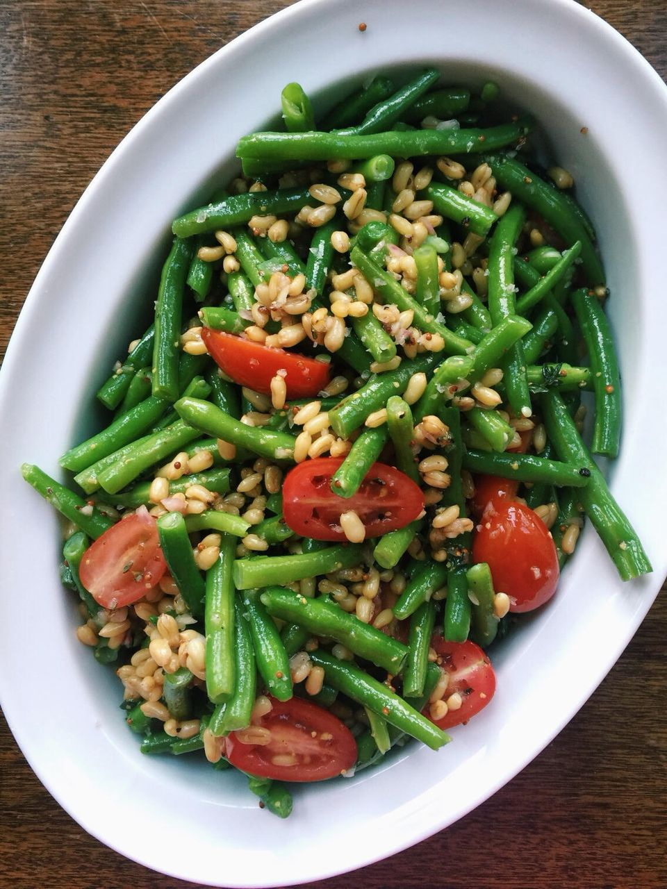 Green Bean Salad with Tomatoes and Kamut
